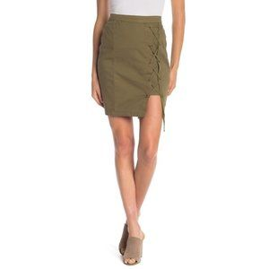 NWT WILLIAM RAST Michelle Lace-Up Skirt #2429